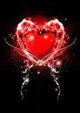 Illustrazione rossa del cuore Fotografie Stock Libere da Diritti