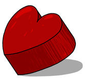Illustrazione rossa del cuore 3D Fotografia Stock Libera da Diritti