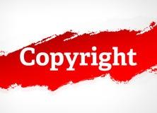 Illustrazione rossa del fondo dell'estratto della spazzola di Copyright royalty illustrazione gratis