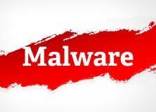 Illustrazione rossa del fondo dell'estratto della spazzola di malware illustrazione di stock