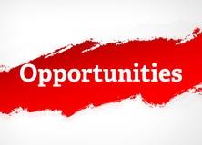 Illustrazione rossa del fondo dell'estratto della spazzola di opportunità illustrazione di stock