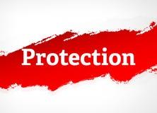 Illustrazione rossa del fondo dell'estratto della spazzola di protezione illustrazione vettoriale