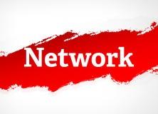 Illustrazione rossa del fondo dell'estratto della spazzola della rete illustrazione di stock