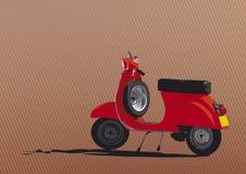 Illustrazione rossa del motorino Fotografia Stock
