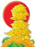 Illustrazione rossa del sole Immagine Stock Libera da Diritti