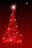 Illustrazione rossa dell'albero di Natale Fotografia Stock