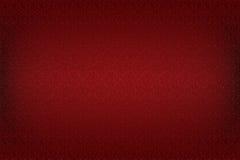 Illustrazione rossa della carta da parati con retro struttura floreale vittoriana Fotografia Stock Libera da Diritti