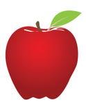 Illustrazione rossa della mela Fotografie Stock