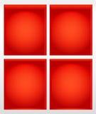 Illustrazione rossa delle mensole di libro Immagini Stock