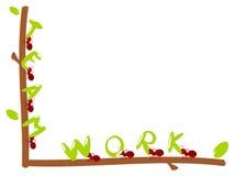 Illustrazione rossa di lavoro di squadra del testo delle formiche Immagine Stock Libera da Diritti