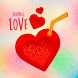 Illustrazione rossa di vettore del cuore Fotografia Stock