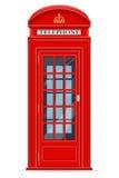 Illustrazione rossa di vettore della cabina telefonica di Londra Fotografia Stock