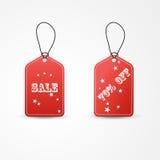 Illustrazione rossa di vettore di vendita dell'etichetta due illustrazione vettoriale