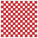 Illustrazione rossa e bianca di Checkboard della mano Immagine Stock