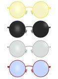 Illustrazione rotonda d'annata classica della montatura per occhiali Fotografia Stock Libera da Diritti