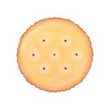 Illustrazione rotonda del biscotto del biscotto Fotografia Stock