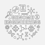 Illustrazione rotonda del profilo di vettore di ingegneria del genoma royalty illustrazione gratis