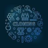 Illustrazione rotonda di clonazione del profilo moderno blu di vettore royalty illustrazione gratis