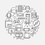 Illustrazione rotonda di gioco Immagine Stock Libera da Diritti