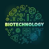 Illustrazione rotonda variopinta del profilo di vettore di Biotechnolgy illustrazione di stock