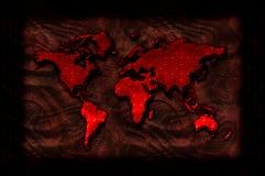 Illustrazione sanguinosa della mappa di mondo Fotografie Stock