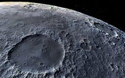 Illustrazione scientifica della luna fotografia stock libera da diritti