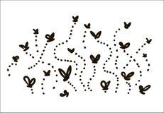 Illustrazione semplice di schizzo delle mosche disegnate a mano di vettore su fondo bianco illustrazione vettoriale