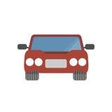 Illustrazione semplice di vettore dell'automobile di progettazione piana Illustrazione di Stock