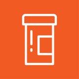 Illustrazione semplice di vettore dell'icona delle pillole Fotografia Stock Libera da Diritti