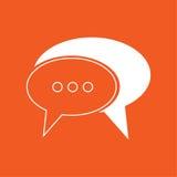 Illustrazione semplice di vettore dell'icona di conversazione Immagine Stock