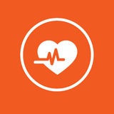 Illustrazione semplice di vettore dell'icona di salute del cuore Fotografia Stock