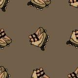 Illustrazione senza cuciture dei pattini di rullo Immagine Stock