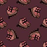 Illustrazione senza cuciture dei pattini di rullo Immagini Stock