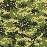 Illustrazione senza cuciture del fondo del modello del cammuffamento I militari cammuffano Fotografia Stock Libera da Diritti