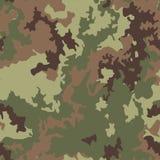 Illustrazione senza cuciture del fondo del modello del cammuffamento I militari cammuffano Immagine Stock Libera da Diritti