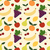 Illustrazione senza cuciture del fondo del modello del preparato della frutta Fotografie Stock