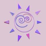 Illustrazione senza cuciture del modello del sole del fumetto Fotografia Stock