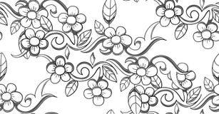 Illustrazione senza cuciture del modello di fiore di vettore Fotografie Stock Libere da Diritti