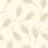 Illustrazione senza cuciture del modello di vettore degli scarabocchi del grano illustrazione di stock