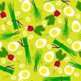 Illustrazione senza cuciture del ravanello dell'orto Fotografie Stock