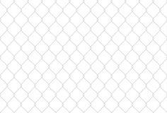 Illustrazione senza cuciture della rete del ferro Recinto disegnato a mano della rete del metallo Fondo di vettore Immagini Stock Libere da Diritti