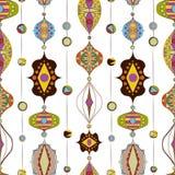 Illustrazione senza cuciture delle lampade arabe Immagini Stock