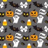 Illustrazione senza cuciture di vettore del fondo del fumetto di Halloween Fotografie Stock