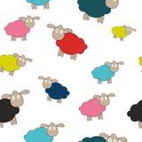 Illustrazione senza cuciture di vettore del fondo del modello dell'agnello astratto Immagini Stock Libere da Diritti