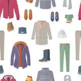 Illustrazione senza cuciture di vettore del modello dell'abbigliamento Fotografia Stock