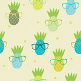 Illustrazione senza cuciture di vettore del modello dell'ananas Fotografia Stock Libera da Diritti