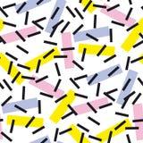 Illustrazione senza cuciture di vettore del modello della geometria pallida di colore Fotografia Stock Libera da Diritti