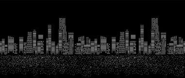 Illustrazione senza cuciture di vettore del modello delle città Immagini Stock Libere da Diritti
