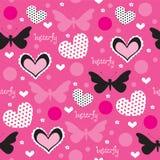 Illustrazione senza cuciture di vettore del modello di farfalla Fotografie Stock