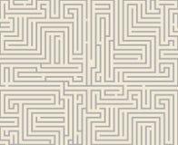 Illustrazione senza cuciture di vettore del modello di progettazione del fondo del modello del labirinto del labirinto di diffico Immagine Stock